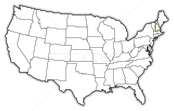 Stok fotoğraf: Harita · Amerika · Birleşik · Devletleri · New · Hampshire · siyasi · birkaç · soyut