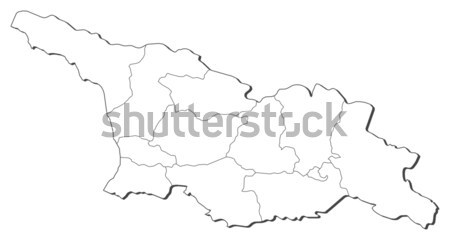 Carte Afrique du Sud noir ligne monde résumé Photo stock © Schwabenblitz