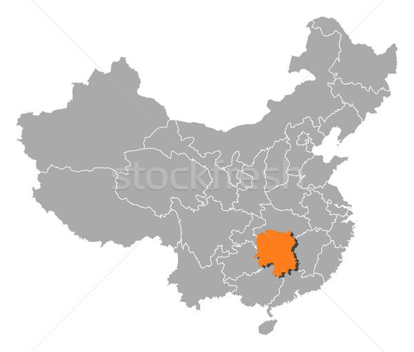 Kaart China politiek verscheidene wereldbol abstract Stockfoto © Schwabenblitz