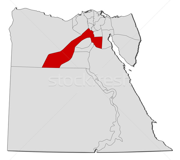 Map of Egypt, Giza highlighted Stock photo © Schwabenblitz