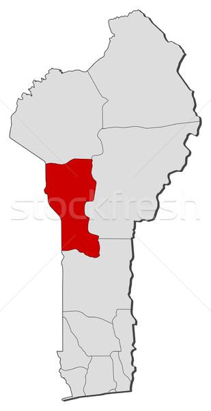 Mappa Benin politico parecchi mondo abstract Foto d'archivio © Schwabenblitz