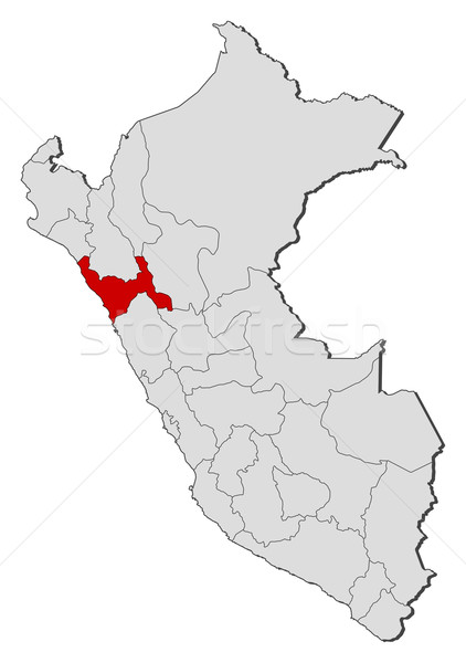 Map of Peru, La Libertad highlighted Stock photo © Schwabenblitz