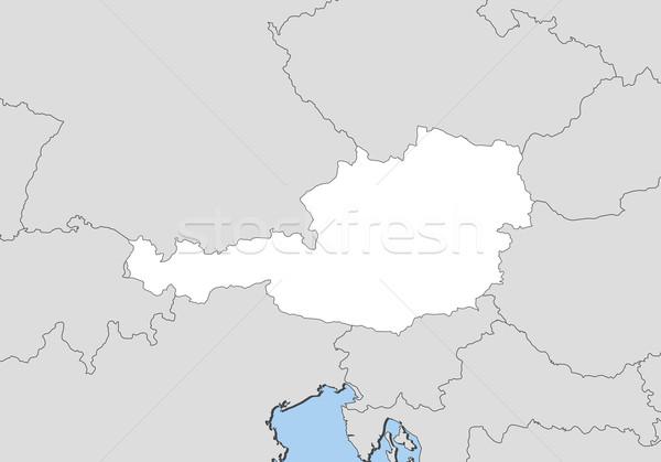 Stock fotó: Térkép · Ausztria · politikai · néhány · absztrakt · világ