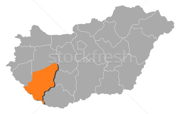 Harita Macaristan siyasi birkaç soyut arka plan Stok fotoğraf © Schwabenblitz