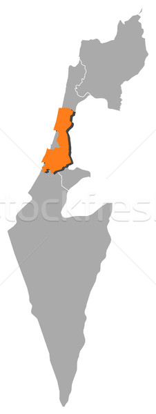 Map of Israel, Central District highlighted Stock photo © Schwabenblitz