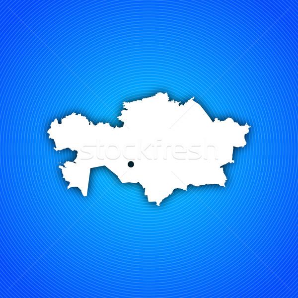карта Казахстан политический несколько аннотация Сток-фото © Schwabenblitz