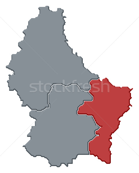 Map of Luxembourg, Grevenmacher highlighted Stock photo © Schwabenblitz