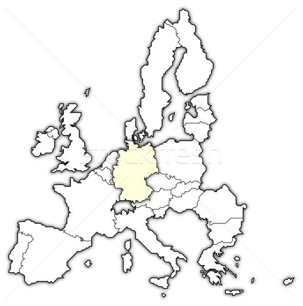 Foto stock: Mapa · europeu · união · Alemanha · político · vários