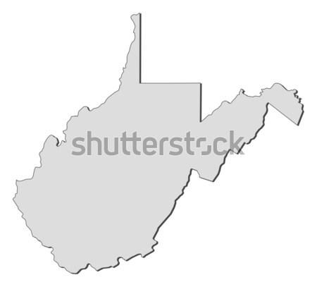 Carte Virginie-Occidentale États-Unis résumé fond communication Photo stock © Schwabenblitz