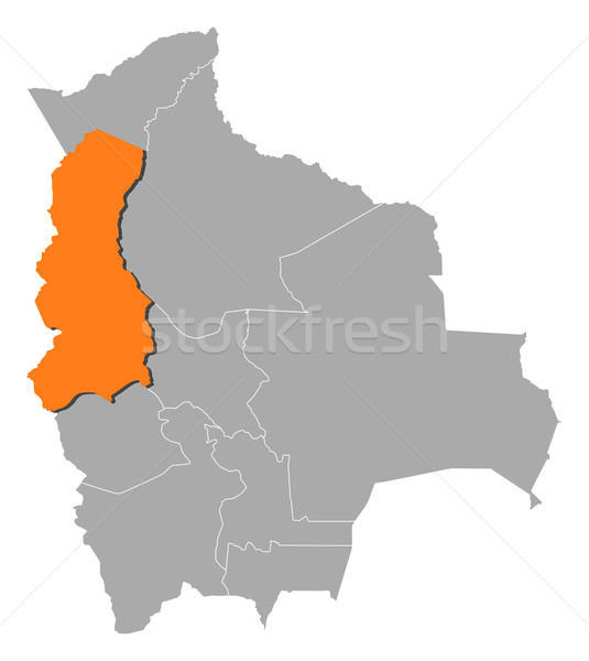 Map of Bolivia, La Paz highlighted Stock photo © Schwabenblitz