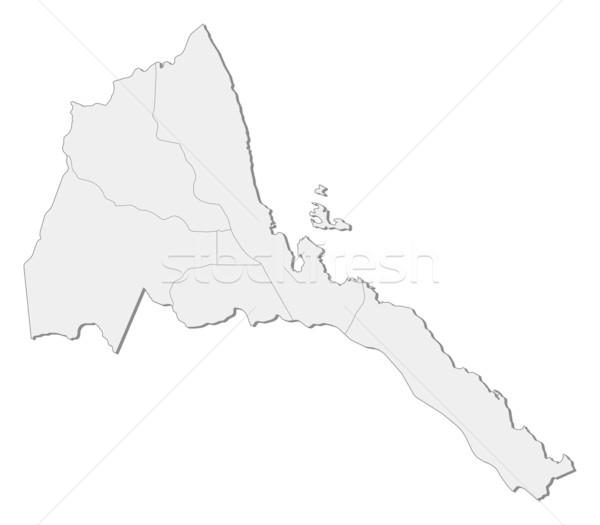 Foto stock: Mapa · Eritrea · político · resumen · mundo