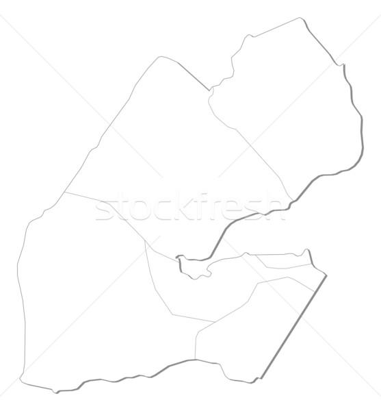 Pokaż Dżibuti polityczny kilka regiony streszczenie Zdjęcia stock © Schwabenblitz