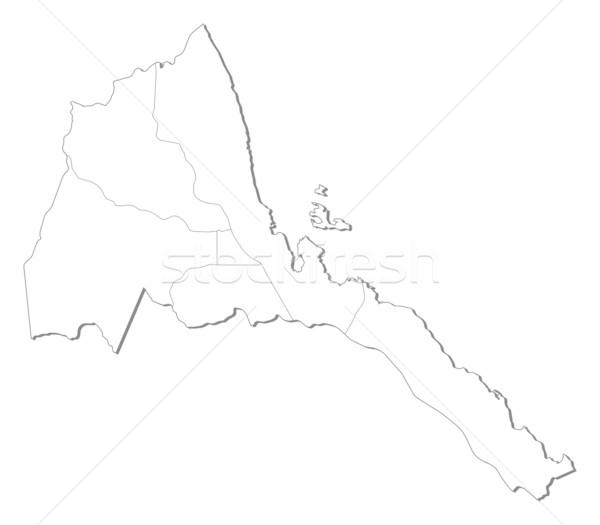 карта Эритрея политический несколько аннотация Мир Сток-фото © Schwabenblitz