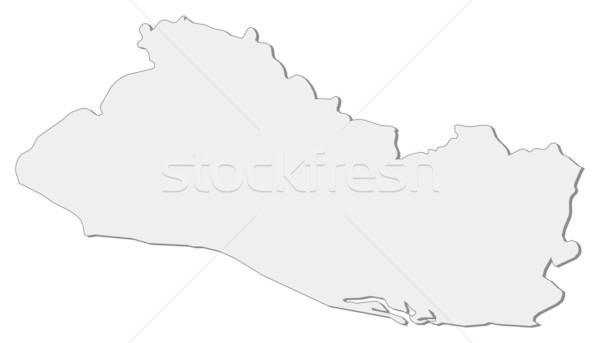 Kaart El Salvador politiek verscheidene abstract wereld Stockfoto © Schwabenblitz