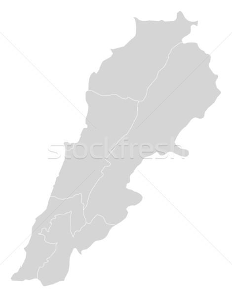 Térkép Libanon politikai néhány absztrakt világ Stock fotó © Schwabenblitz
