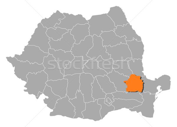 Stock fotó: Térkép · Romania · politikai · néhány · absztrakt · háttér