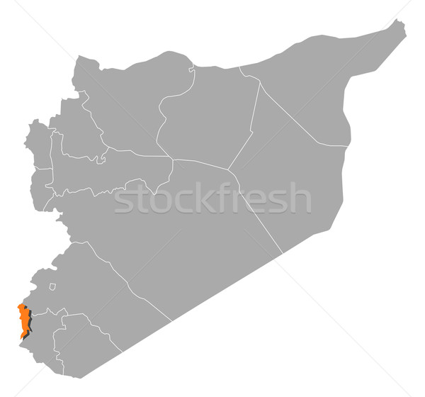 Map of Syria, Quneitra highlighted Stock photo © Schwabenblitz