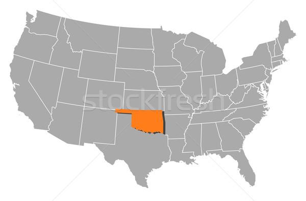 Carte États-Unis Oklahoma politique plusieurs résumé Photo stock © Schwabenblitz