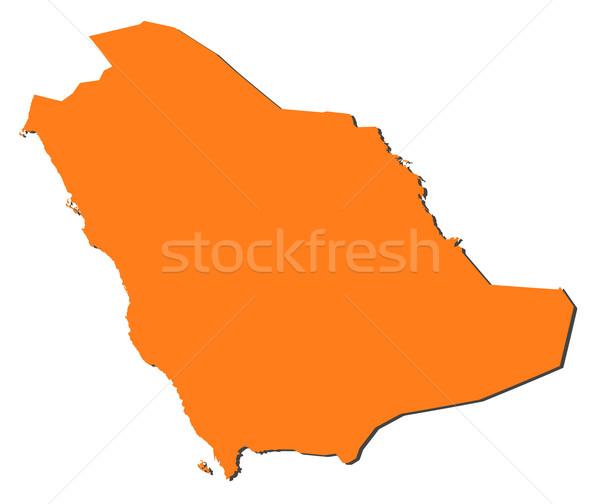 Mapa Arábia Saudita político vários abstrato mundo Foto stock © Schwabenblitz