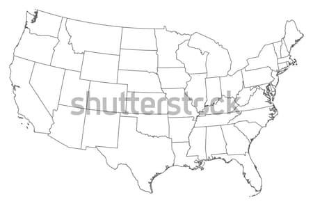Map of the United States Stock photo © Schwabenblitz