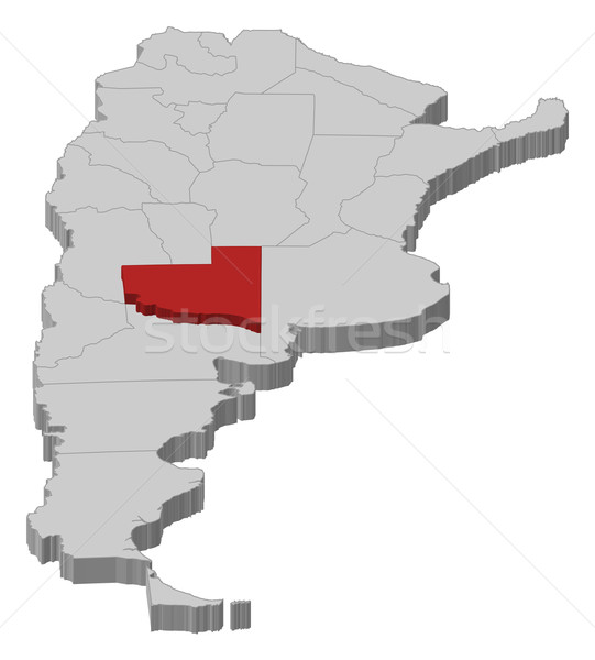 Map of Argentina, La Pampa highlighted Stock photo © Schwabenblitz