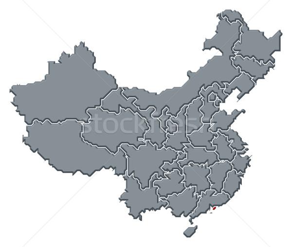 Map of China, Hong Kong highlighted Stock photo © Schwabenblitz