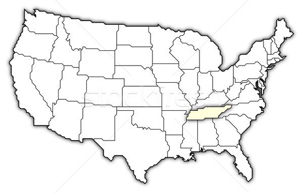 Mapa Estados Unidos Tennesse político resumen Foto stock © Schwabenblitz