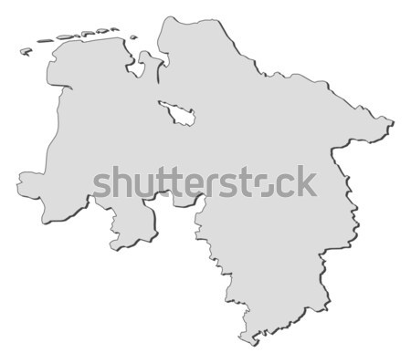 Lower Saxony Germany Map.Map Of Lower Saxony Germany Vector Illustration C Steffen Hammer
