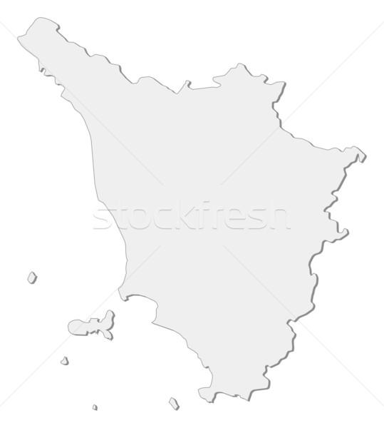 Harita Toskana İtalya bölge soyut arka plan Stok fotoğraf © Schwabenblitz