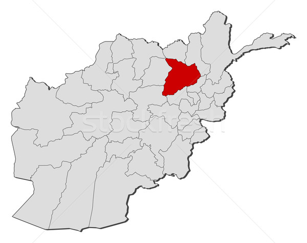 Map of Afghanistan, Baghlan highlighted Stock photo © Schwabenblitz