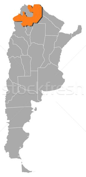 Map of Argentina, Salta highlighted Stock photo © Schwabenblitz