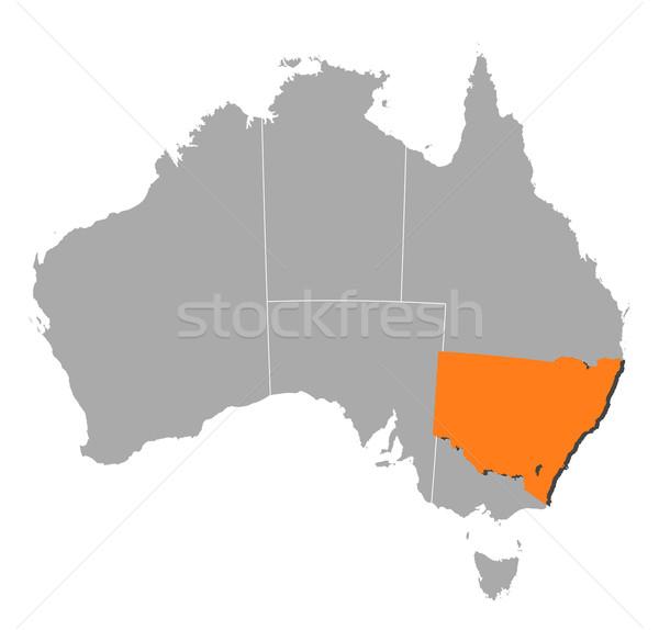 Mapa Australia nueva gales del sur político mundo Foto stock © Schwabenblitz