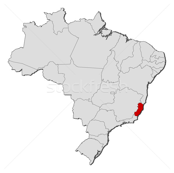 Map of Brazil, Esp Stock photo © Schwabenblitz