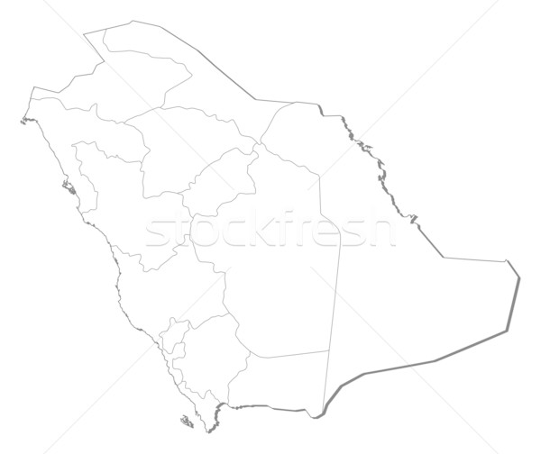 Map of Saudi Arabia Stock photo © Schwabenblitz
