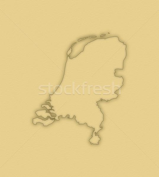 Harita Hollanda siyasi birkaç soyut dünya Stok fotoğraf © Schwabenblitz
