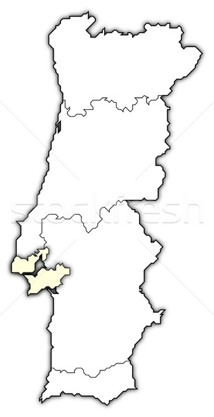 Map of Portugal, Lisboa Region highlighted Stock photo © Schwabenblitz