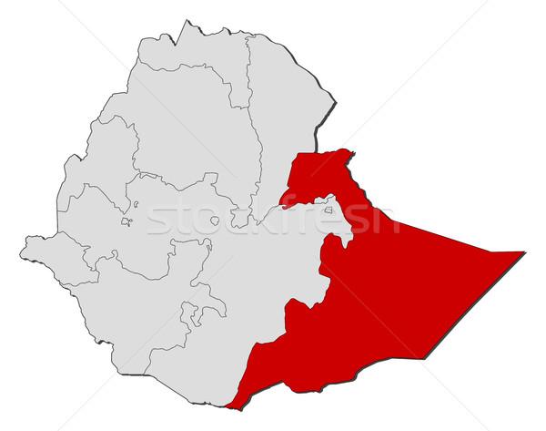 地図 エチオピア 抽象的な 赤 通信 黒 ストックフォト © Schwabenblitz