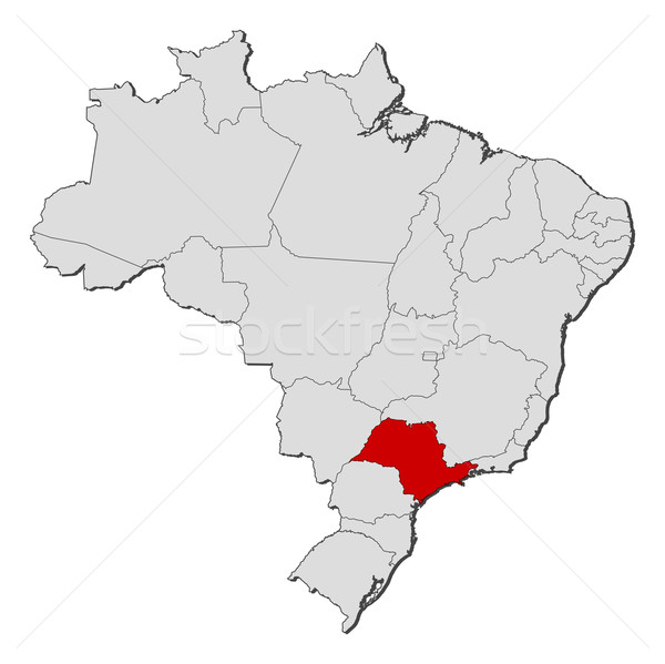 Map of Brazil, S Stock photo © Schwabenblitz