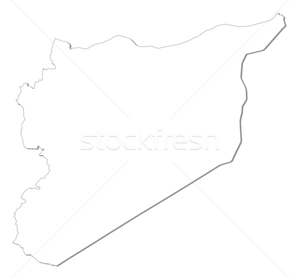 Map of Syria Stock photo © Schwabenblitz