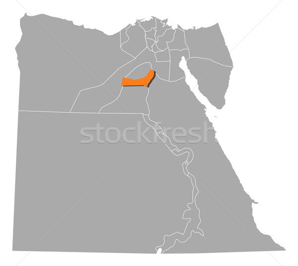 Kaart Egypte politiek verscheidene abstract achtergrond Stockfoto © Schwabenblitz