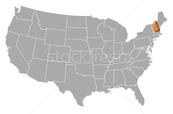 Harita Amerika Birleşik Devletleri New Hampshire siyasi birkaç soyut Stok fotoğraf © Schwabenblitz