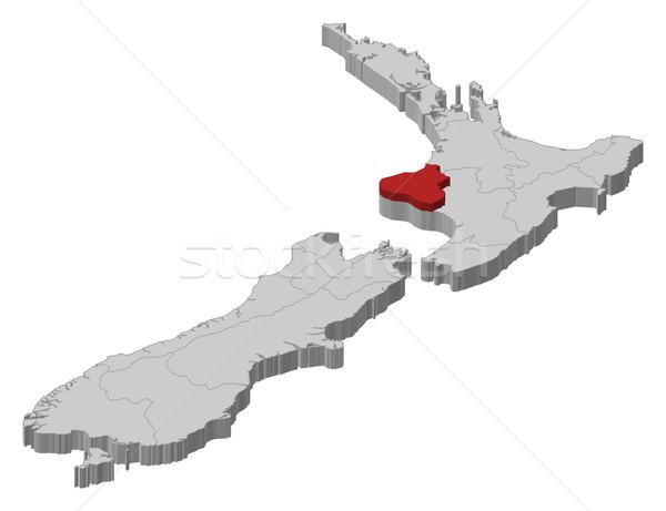 Wanganui New Zealand Map.Map Of New Zealand Manawatu Wanganui Highlighted Vector