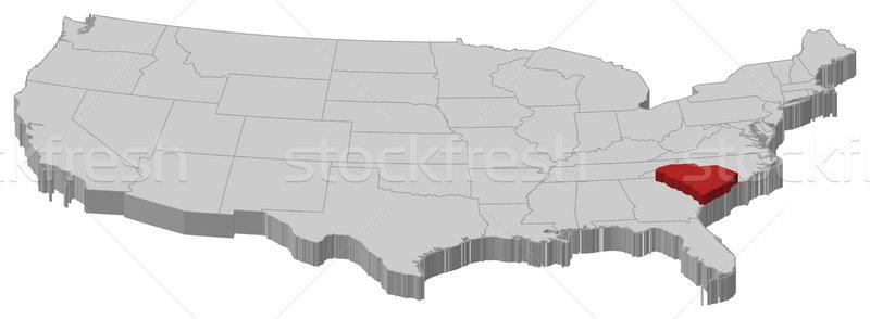 Mappa Stati Uniti Carolina del Sud politico parecchi abstract Foto d'archivio © Schwabenblitz