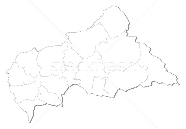Map - Central African Republic Stock photo © Schwabenblitz