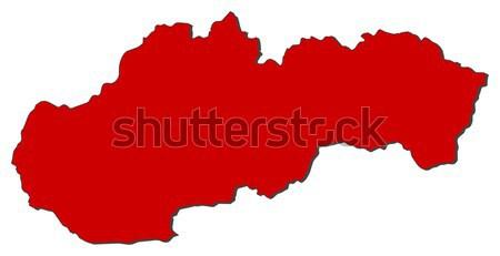 карта Словакия красный аннотация Мир Сток-фото © Schwabenblitz