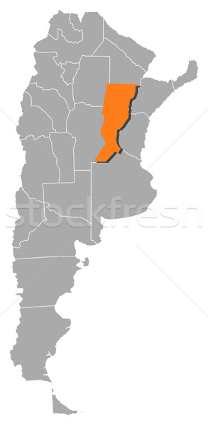 Map of Argentina, Santa Fe highlighted Stock photo © Schwabenblitz