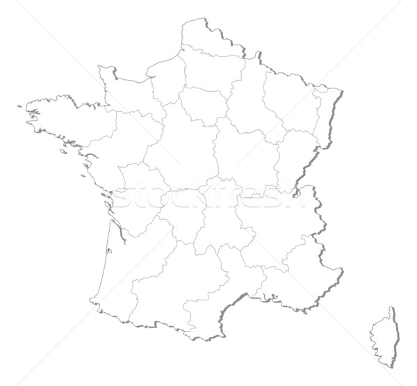 Map of France Stock photo © Schwabenblitz