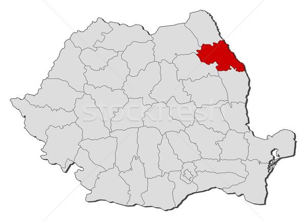 Mapa Romênia político vários globo abstrato Foto stock © Schwabenblitz
