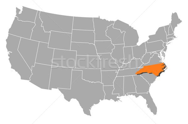Map of the United States, North Carolina highlighted Stock photo © Schwabenblitz