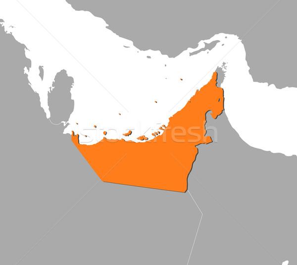 Harita Birleşik Arap Emirlikleri siyasi birkaç soyut dünya Stok fotoğraf © Schwabenblitz